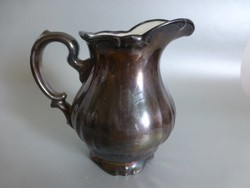 Vintage porcelán fekete  Bavaria nagyméretű tejkiöntő