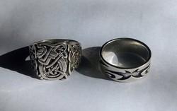 Férfi ezüst gyűrűk