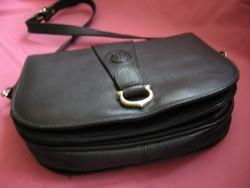 Retro Cartier fekete bőr táska