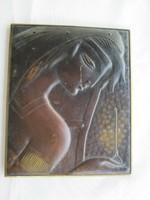 Réz kép fali dísz lány