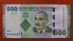 Tanzánia 500 Shillings UNC 2010