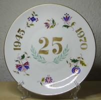 Herendi porcelán felszabadulás tányér magyaros MHG dekorral hibátlan állapotban!