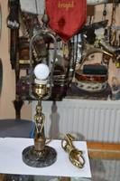 Régi felújított figurális asztali lámpa