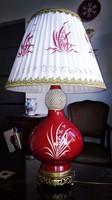 19. századi Ó Herendi Esterházy mintás hatalmas asztali lámpa