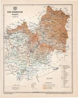 Ung vármegye térkép 1897 (6), lexikon melléklet, Gönczy Pál, 23 x 29 cm, megye, Posner Károly
