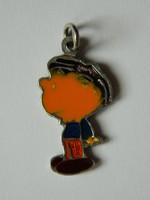 Régi ezüst Snuupy Peanuts figura medál.