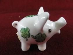 Göbel német porcelán sószóró. A szerencse malacon négylevelű lóhere.