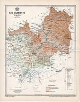 Ung vármegye térkép 1897 (3), lexikon melléklet, Gönczy Pál, 23 x 30 cm, megye, Posner Károly