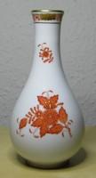 Herendi porcelán váza Apponyi orange mintával hibátlan állapotban!