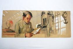 Ék Sándor festmény