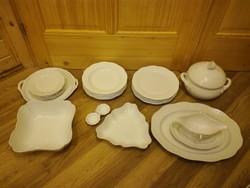Fehér Herendi porcelán étkészlet, készlet