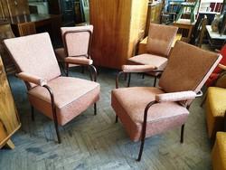 Régi retro csővázas fémvázas fotel