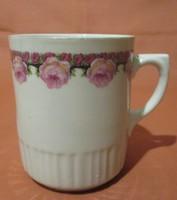Régi, ritka Zsolnay rózsás bögre, csésze