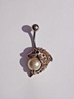 41 köves és egy gyöngyös ezüst piercing