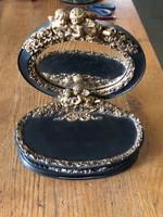 Barokk pipere tükör tárolóval, ékszertartó