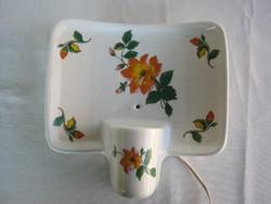 Drasche porcelán virágos fali lámpa