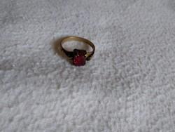 Antik piros köves színes női gyűrű