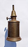 Antik francia réz felakasztható lámpa