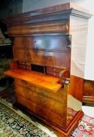 """Mahagóni szekreter,""""ezüst szekrény"""" 1837"""