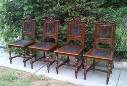 Bécsi barokk Diófa székek 4db!!! Cca 1880. Első Ajánlatért Vihető!!!
