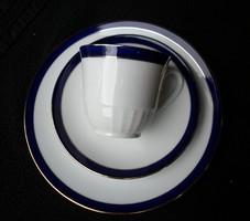 Gyönyörű kék aranyozott elegáns reggeliző szett