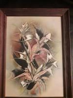Jelzett absztrakt festmény