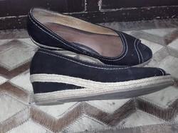 5 th Avenue fekete kívül- belül bőr cipő ,szandál 38 -as( 5) méretű