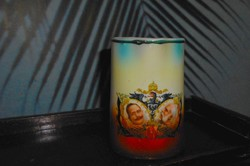 Ferenc József és Vilmos császár portréval antik emlék kancsó, kiöntő