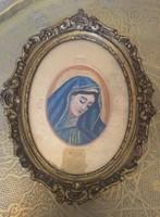Antik goblein/gobelin  kép Szűz Mária