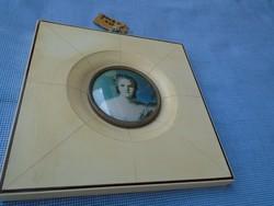 Biedermeier miniatűr francia kép XX sz.