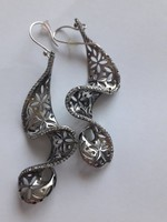Izraeli ezüst fülbevaló
