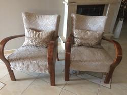 Teljesen felújított 2 darab art deco fotel eladó