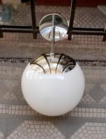Bauhaus  -  Art deco falikar pár tejüveg gömb búrával  -  felújítva  -  Lampart