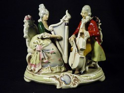 S787 Régi német nagy barokk főúri porcelán