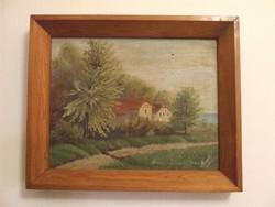 Jelzett, régi kis méretű festmény