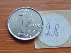 BELGIUM BELGIE 1 FRANK 1997 28.