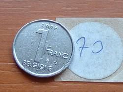 BELGIUM BELGIQUE 1 FRANK 1996 70.