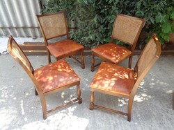 4 db Lübke vintage szék bőrbevonattal