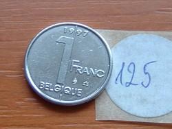 BELGIUM BELGIQUE 1 FRANK 1997 125.