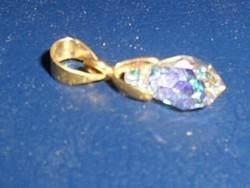 Csepp  Swarovski kr. Ezüst - 18k Arany  medál