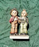 Hummel porcelán éneklő fiúk szobor
