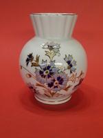 ÚJ ! Zsolnay búzavirágos váza dobozában