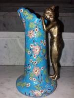 Szecessziós stilusú váza ☆ porcelán és réz kombináció díszítéssel ☆☆☆☆☆