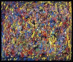 """""""Aranyeső """" Koso festmény ,hatalmas méret , 80 x 100 cm keretes akció"""