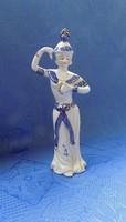 Táncoló keleti nő porcelán figura 18,5 cm (po-1)