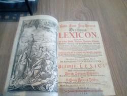 Handlungs Lexicon bőrkötéses német 1755 (Hübner)