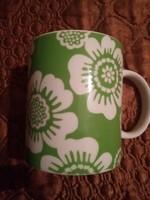 Zöld fehér csésze 2 dl
