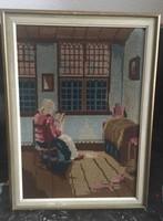Antik nagy goblein/gobelin kép