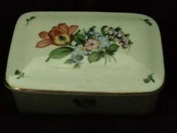 Herendi virágmintás porcelán bonbonier!
