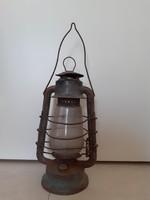 """Régi viharlámpa """" SZIKRA 5 """" petróleumlámpa olajlámpás spirituszos lámpa"""